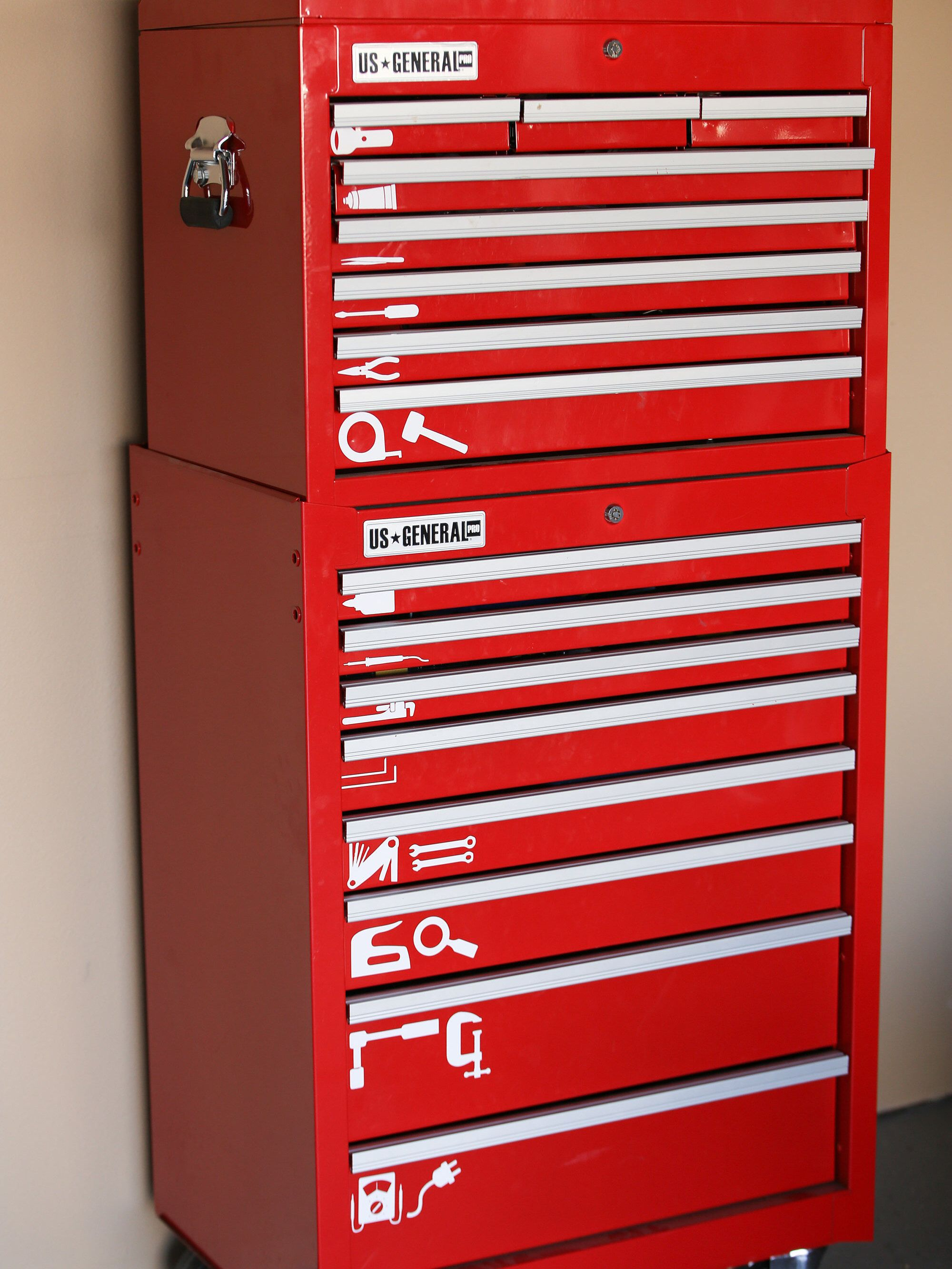 Tool Set For Toolbox Vinyl Decals Set Of 20 Home Etsy Tool Box Organization Tool Box Tool Chest Organization