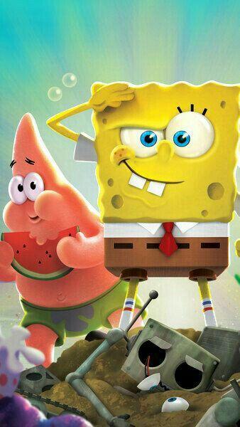Spongebob Squarepants art wallpaper HD for iPhone.
