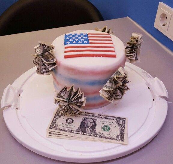 Amerika torte mit erdbeeren
