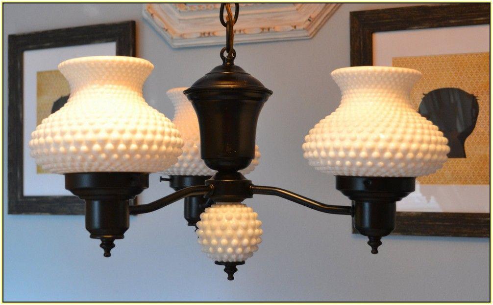 Hobnail milk glass chandelier apartment makeover pinterest hobnail milk glass chandelier aloadofball Images