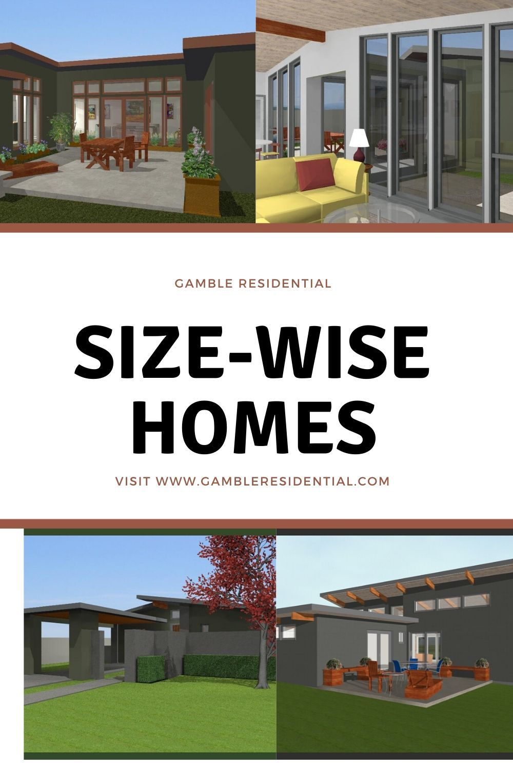 Responsible Living With Size Wise Homes From Gamble Residential Build Your Dream Home Small House Plans House Plans