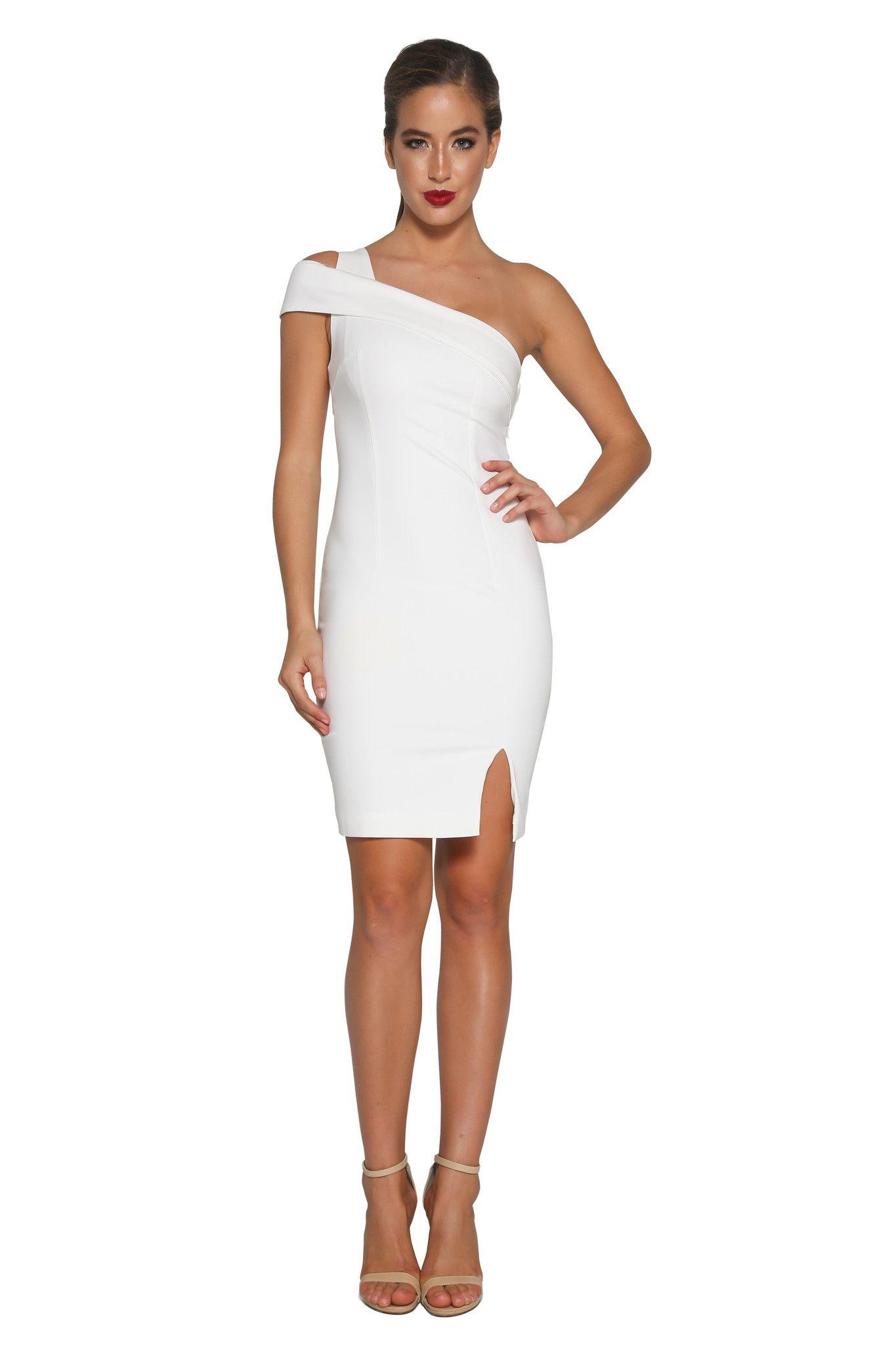 Ziba One Shoulder Dress - White  Meshki Boutique  Fashion ...
