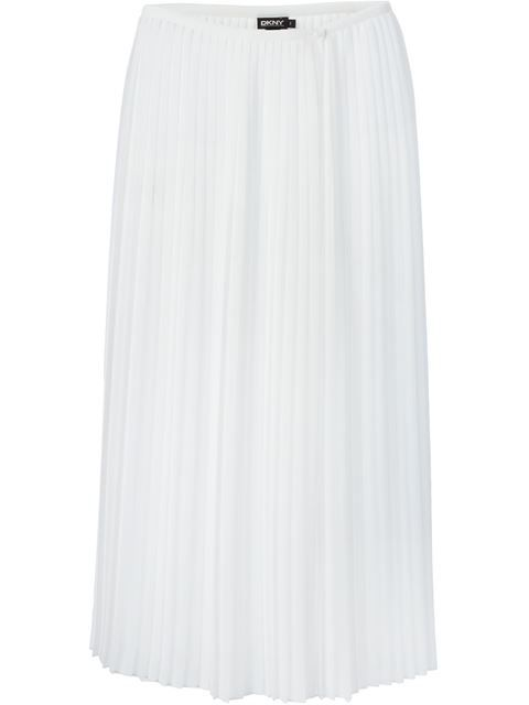DKNY Pleated Sheer Skirt. #dkny #cloth #skirt