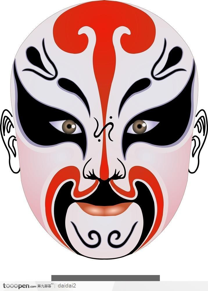 Chinese Opera Mask 6 coloring page | Free Printable Coloring Pages | 1000x716