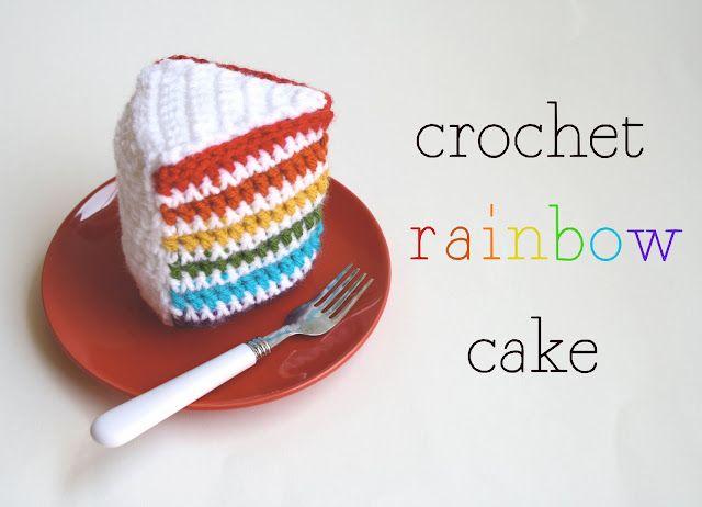 Crochet Rainbow Cake Pattern