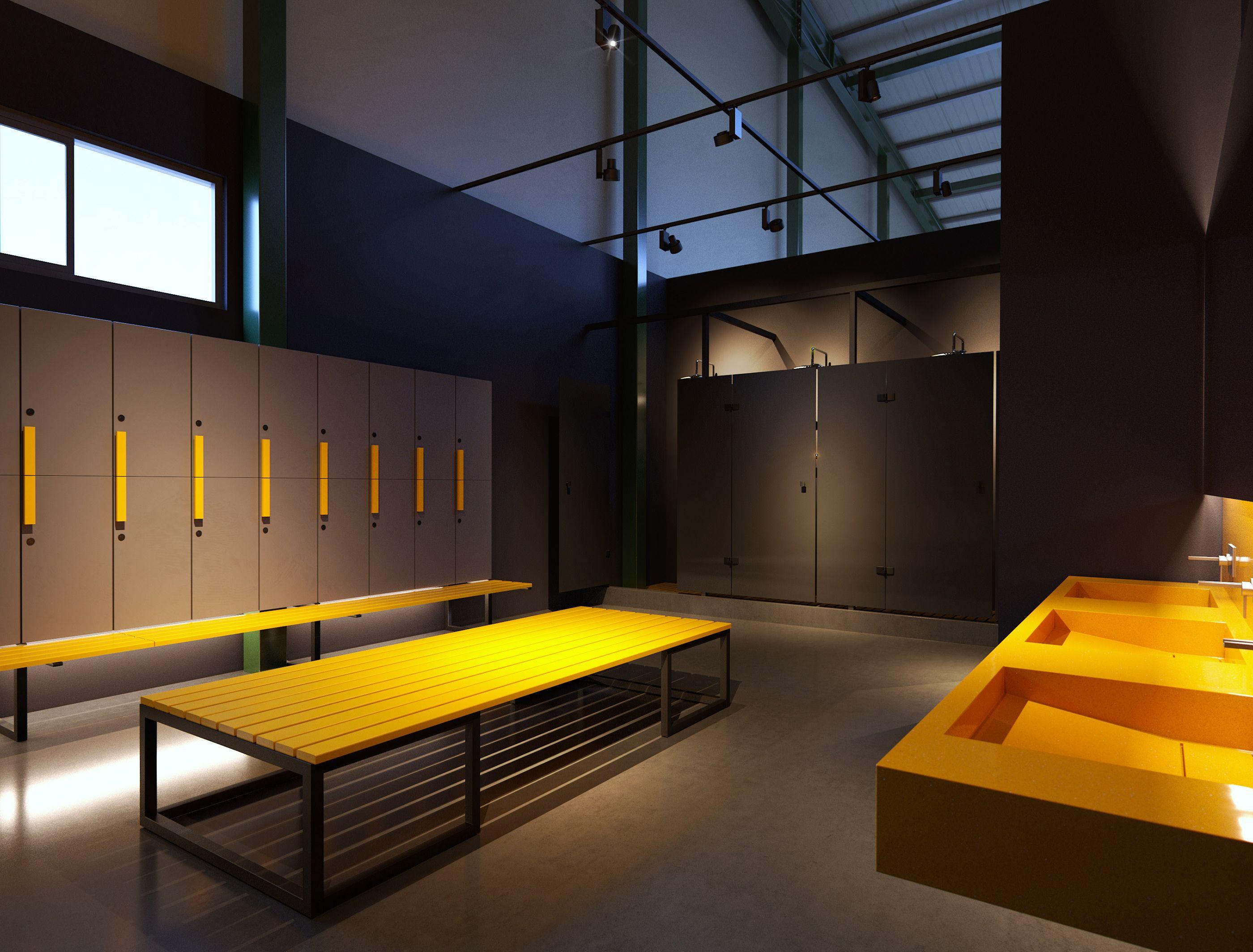 Crossfit Box Gym Design Interior Changing Room Design