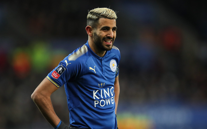Download Wallpapers Riyad Mahrez 4k Football Premier League Footballers Soccer Leicester City Besthqwallpapers Com Leicester City Manchester City Leicester