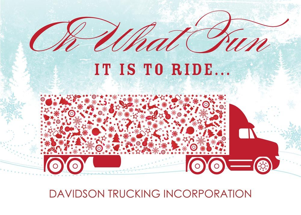 trucking christmas cards - Google Search | Extra Junk Art Teachers ...