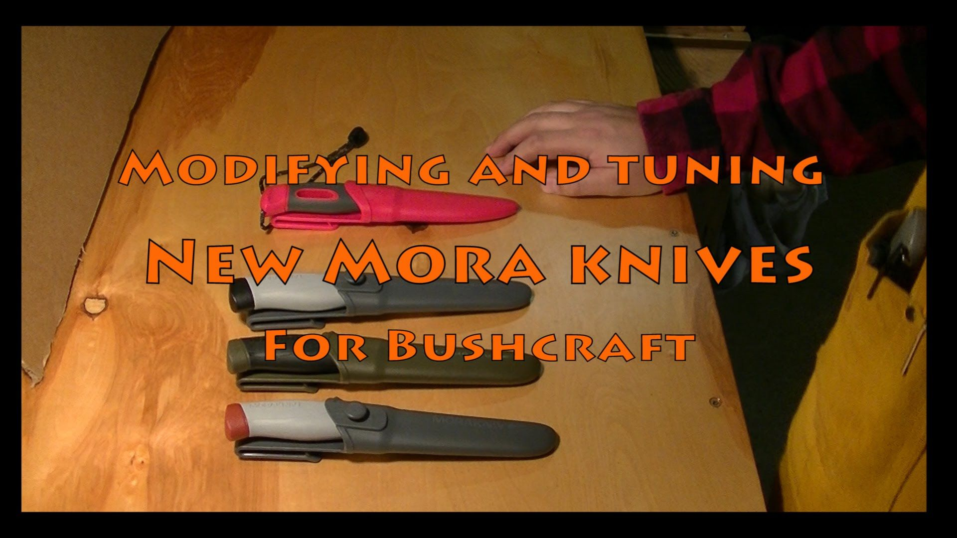 Modifying New Mora Knives for Bushcraft