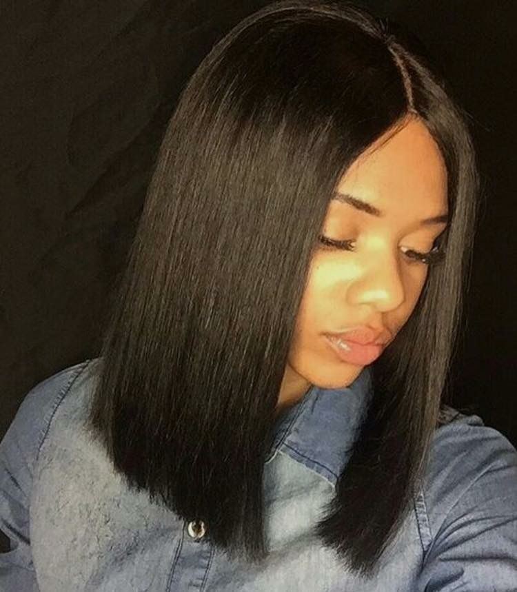 Blunt Cut Black Hair Pinterest Blunt Cuts Black And Bobs