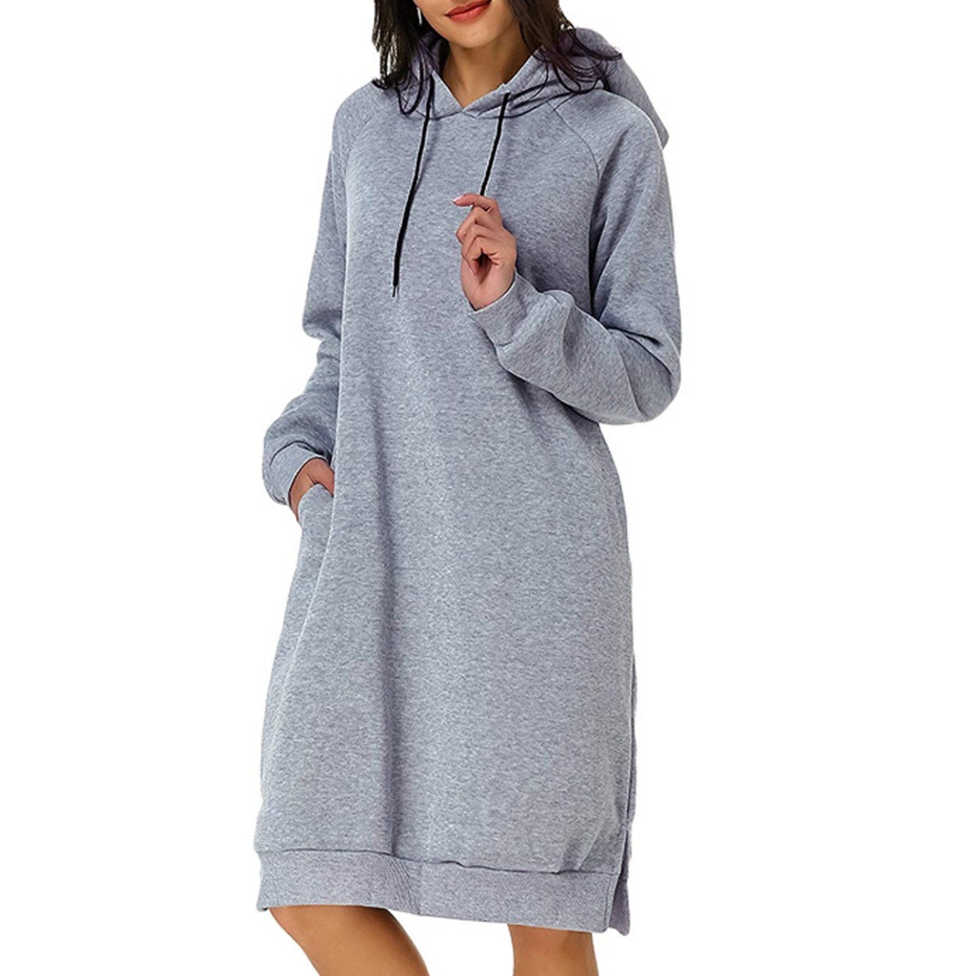 Amavo Avamo Casual Hooded Dress For Women Hoodie Jumper Pullover Sweatshirt Tops Ladies Long Sleeve Casual Pocket Dress Knee Length Walmart Com Hoodie Dress Sweatshirts Women Long Hoodie [ 2000 x 2000 Pixel ]