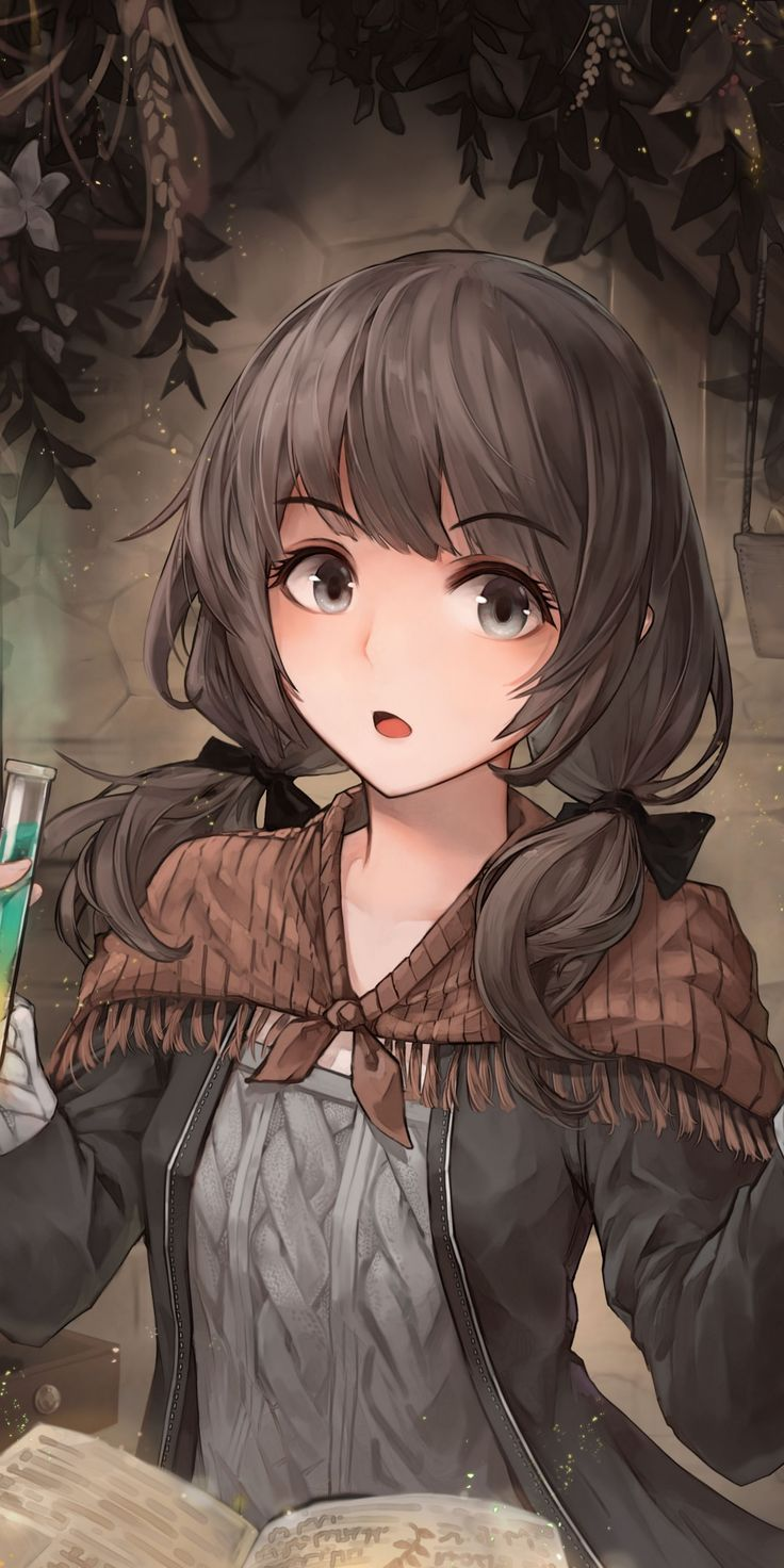 Photo of Gaming PinWire: Curious wizard fantasy anime girl art 1080×2160 wallpaper – Pint…