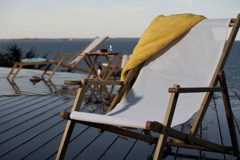 Jan Kurtz Deckchair Grun Gestreift Ohne Fussteil Outdoor