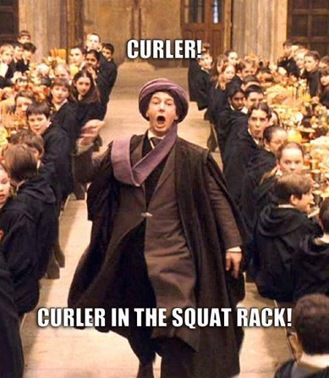 don't be that curler in the squat rack!!