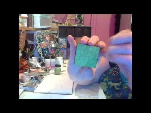 How To Keep Distress Crackle Paint From Chipping Off Of Polymer Clay Polymer Clay Clay Crackle Painting