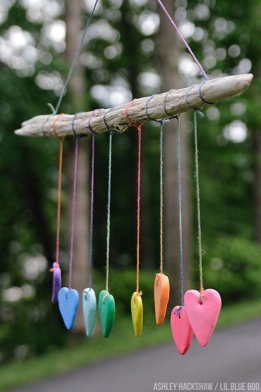Rainbow Heart Wall Hanging - Crayola Model Magic Summer Project