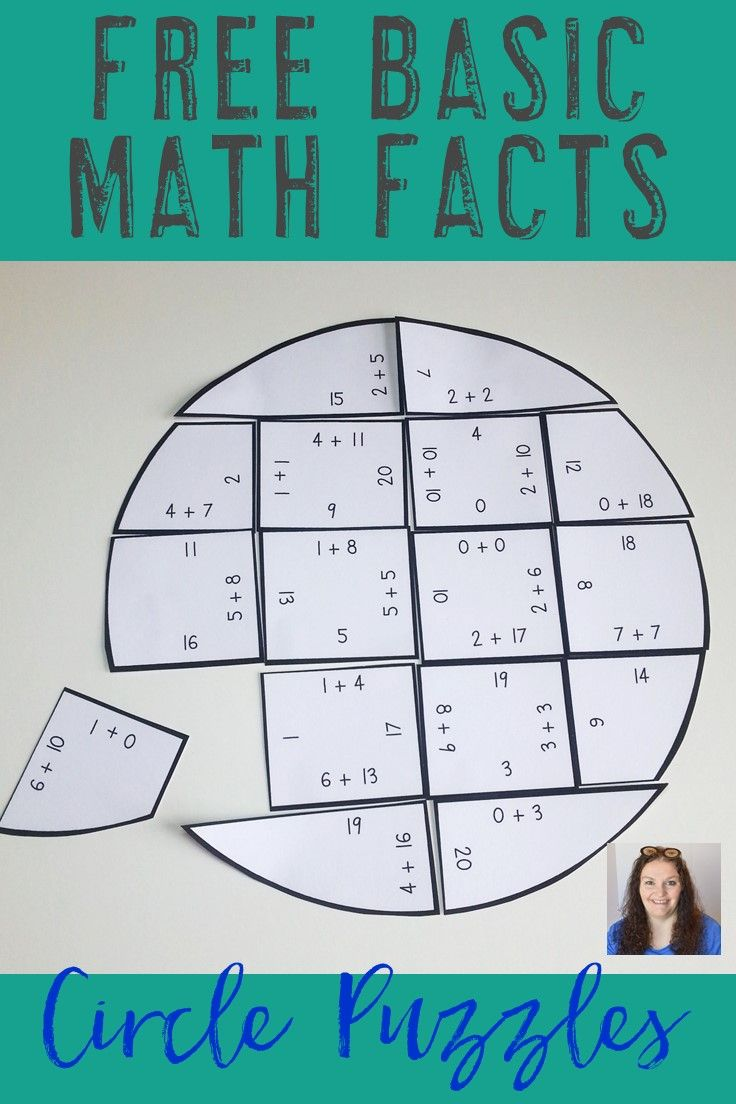 Math Puzzles for Elementary Students | Basic math, Math facts and ...