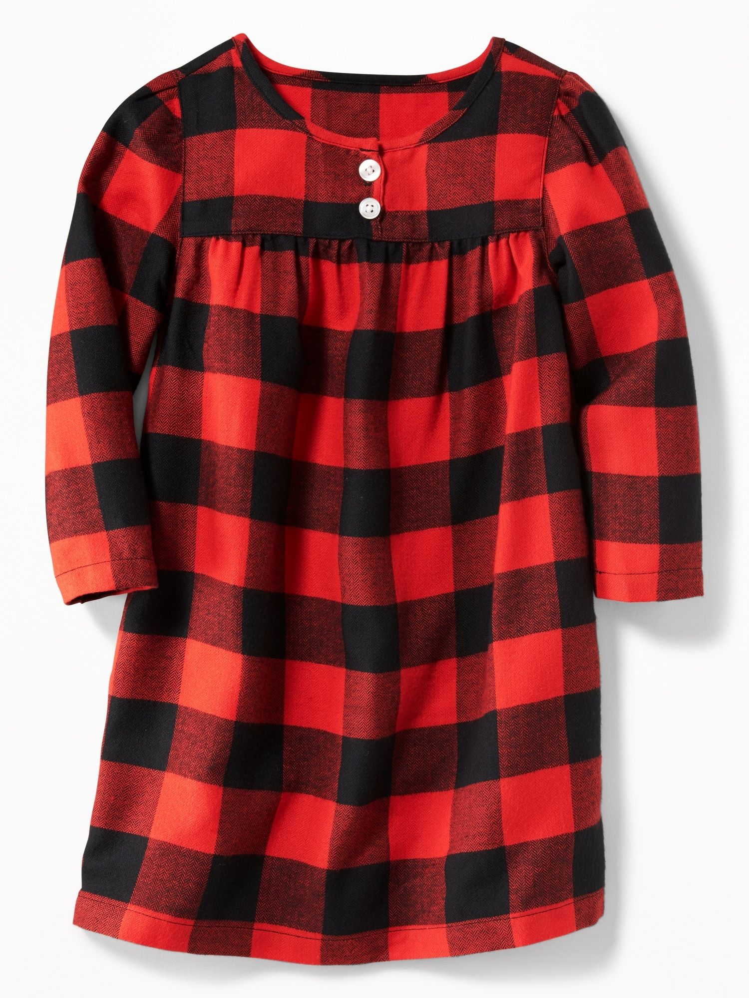 Plaid Flannel Sleep Dress for Toddler Girls Old Navy
