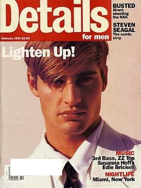 see a young josh holloway modeling on the cover of details