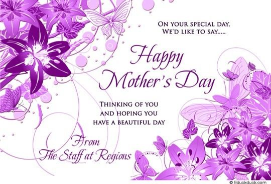 Purple Lily Mother S Day Card Beautiful Business Clients Happy Mothers Day Wishes Mother Day Wishes Happy Mothers Day Messages