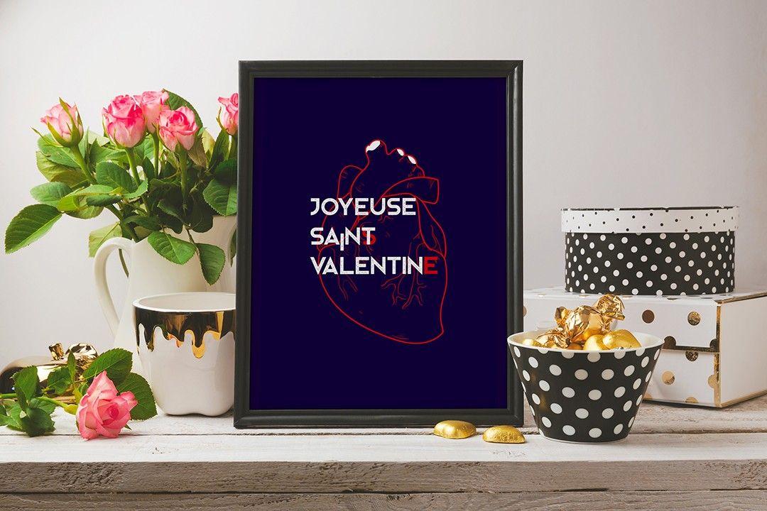 Poster graphique Saint Valentin
