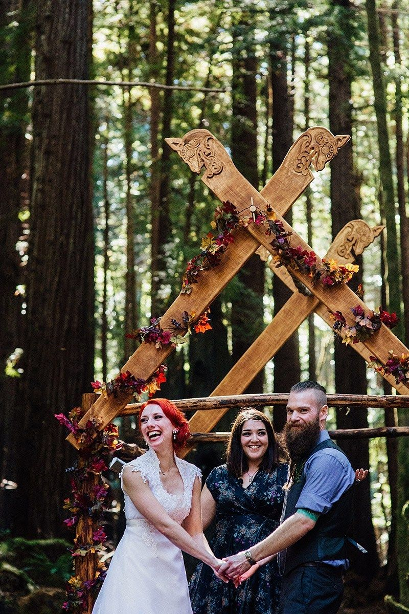 FALL for this autumn wedding with a Nordic ceremony, axe-throwing, and camping -   9 wedding Forest honeymoons ideas