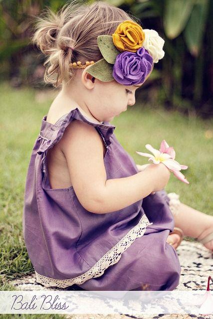 headband, flowers, baby, diy