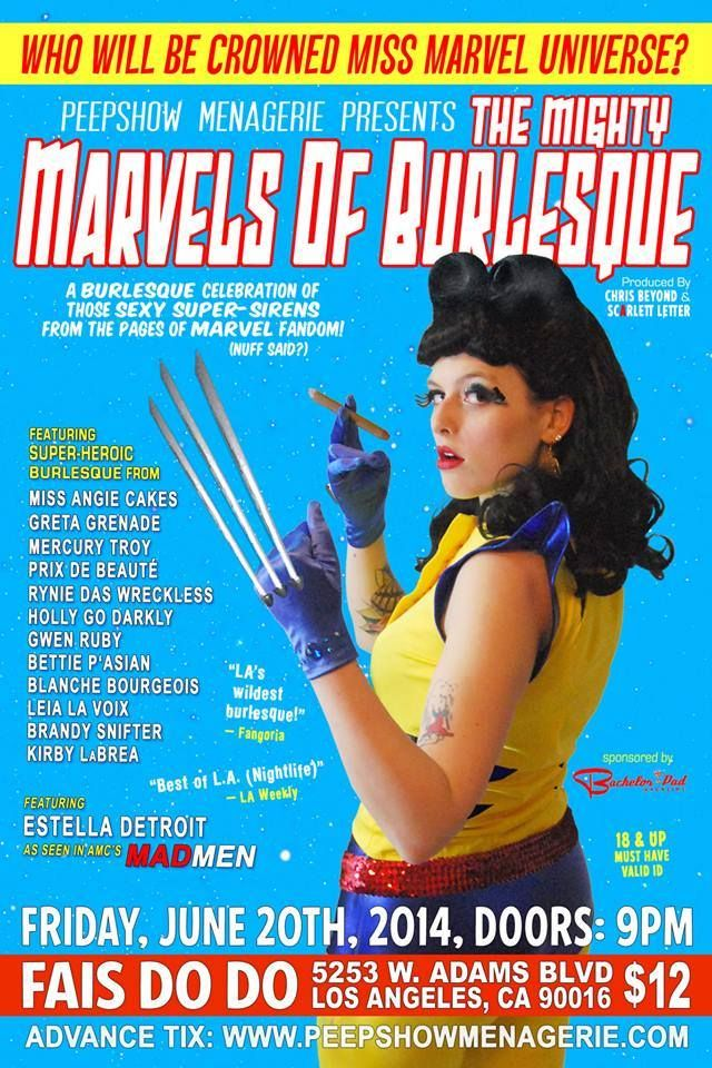 Marvels Of Burlesque Tickets Www Peepshowmenagerie Com Marvel Loki Burlesque Thor Ladyloki Wolverine Pyclock La Super Heroic Burlesque Lady Loki