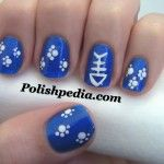 Who wants fish for dinner? My cat does! Watch Our Video Tutorial @ http://www.polishpedia.com/fish-for-dinner-nail-art.html