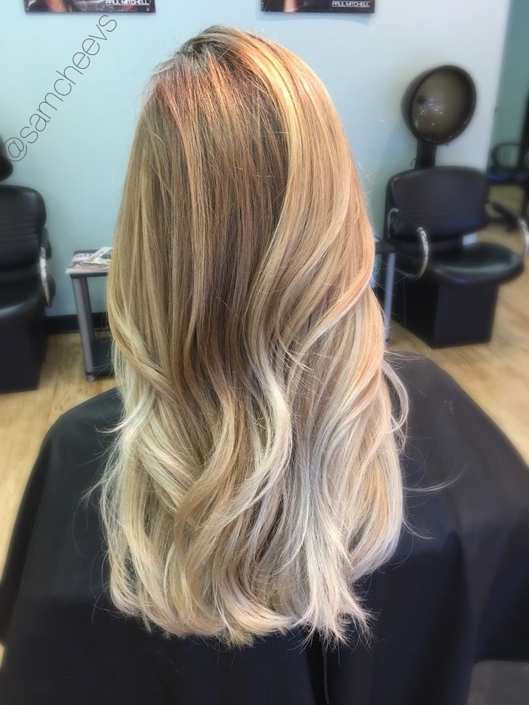 Golden Honey Dirty Blonde Hair Color With White Platinum Blonde