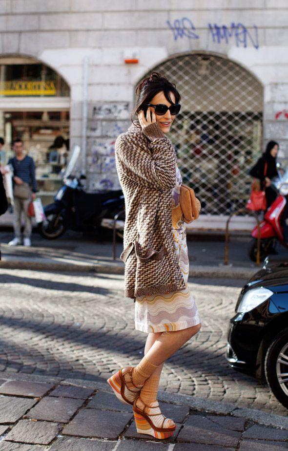 Pattern Combination #cardigan #dress #clutch