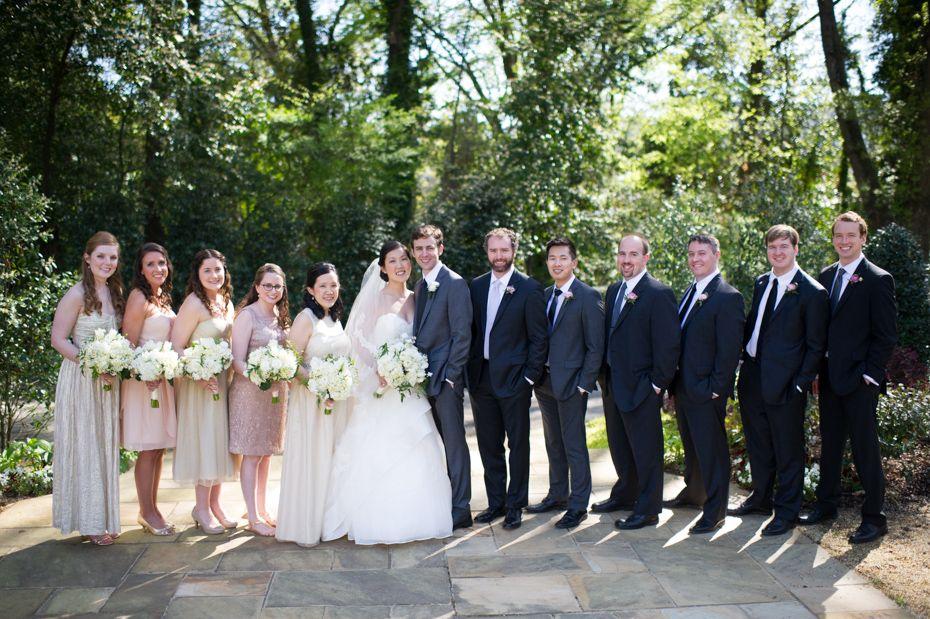 intimate wedding packages atlantga%0A      Piedmont Estate Atlanta Wedding  Bridal party photos outdoors
