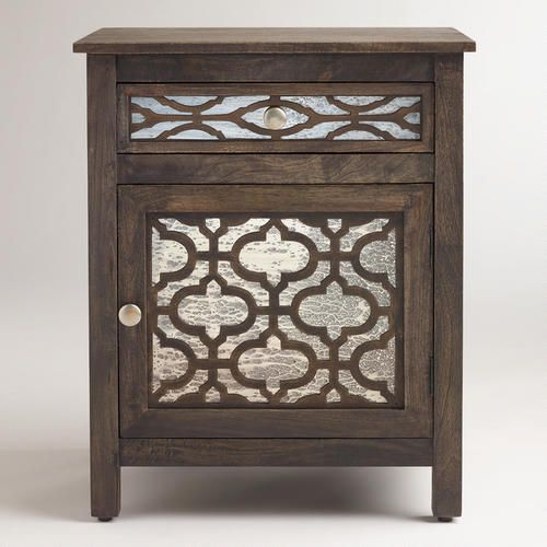 World Market Lately: Kiran Antiqued Mirror Cabinet From World Market