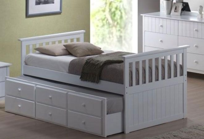 King Single Sonny Captains Bed With King Single Trundle