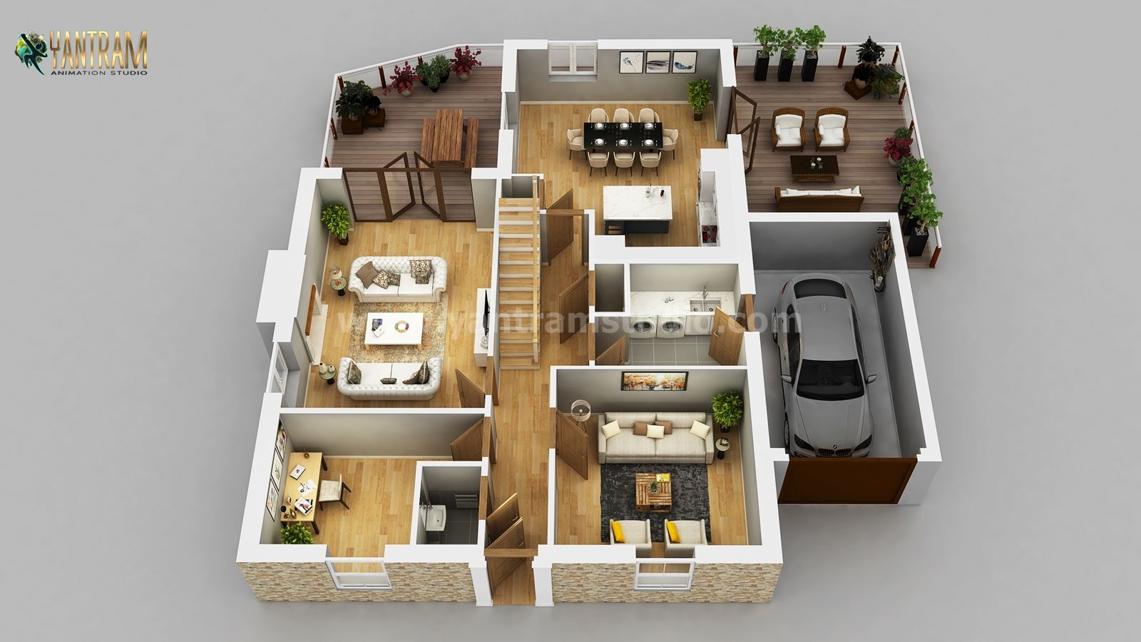 Residential Apartment 3d Floor Plan Design By Architectural Rendering Services Wasilla Alaska Architectural Design Studio Floor Plan Design Floor Plans