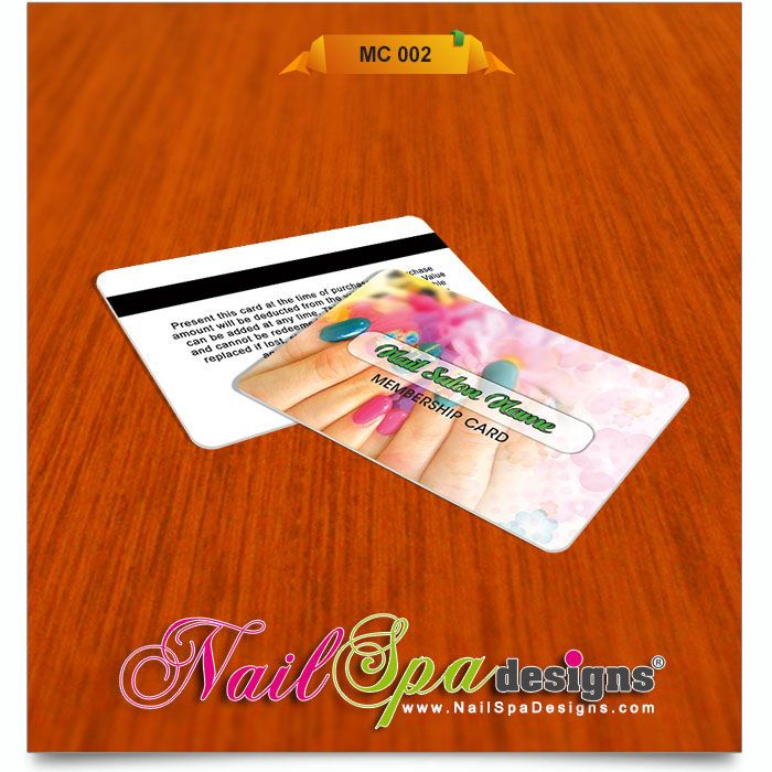 Membership Card template for Nail Salon. Visit www.NailSpaDesigns ...