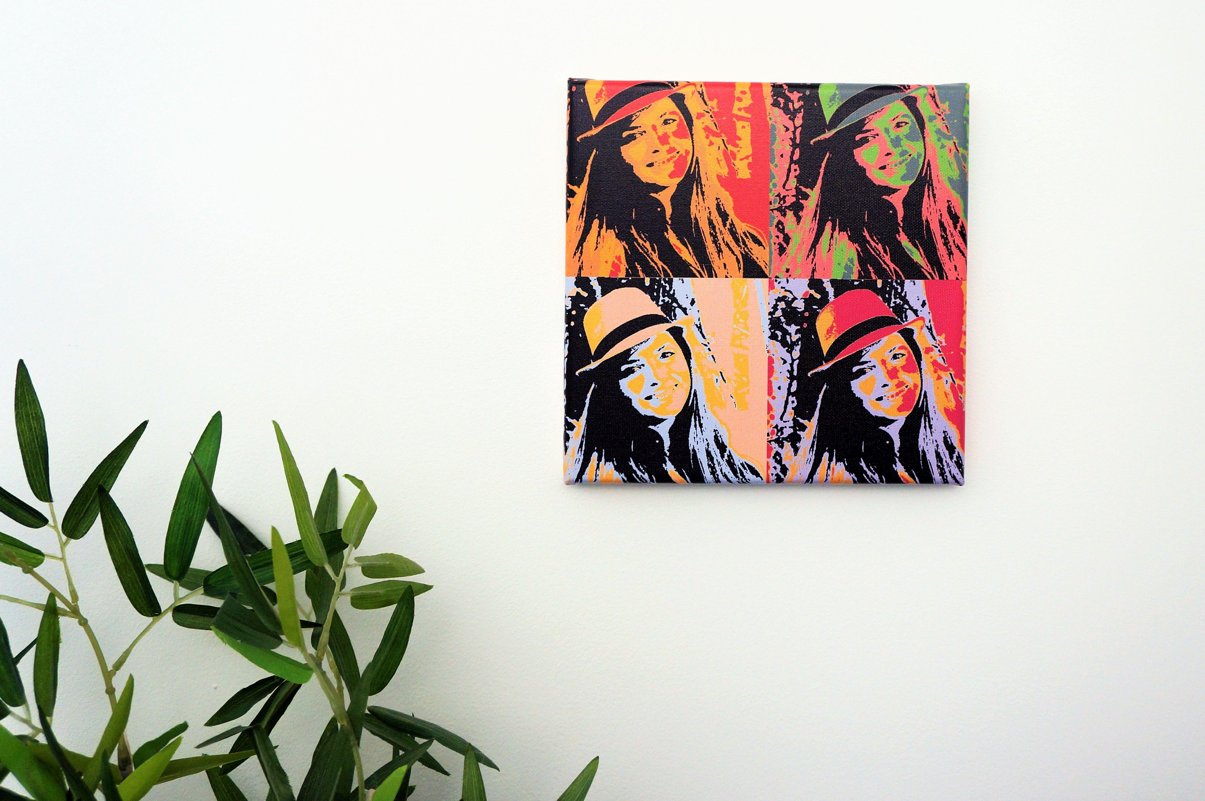 tableau pop art toile personnalis 1 photo andy warhol toile. Black Bedroom Furniture Sets. Home Design Ideas