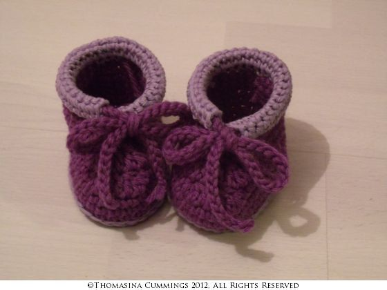 Crochet Slippers with Cuff and Tie Pattern PDF by UniqueEarthling, £2.10