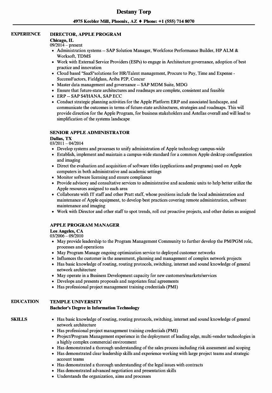 Free Resume Templates For Mac Inspirational Apple Resume Samples Resume Examples Marketing Resume Manager Resume