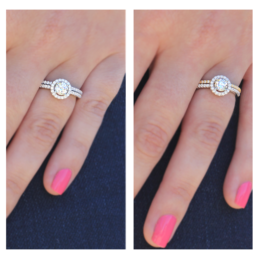 Which band would you pair your ring with? Try mixing metals to give ...