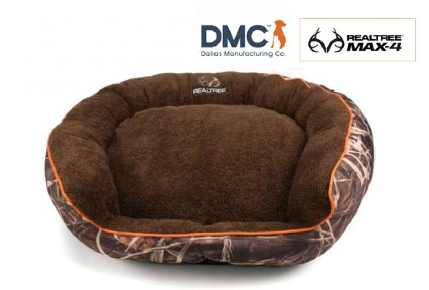 The Realtree MAX5 Camo Dog Bed provides the comfort and