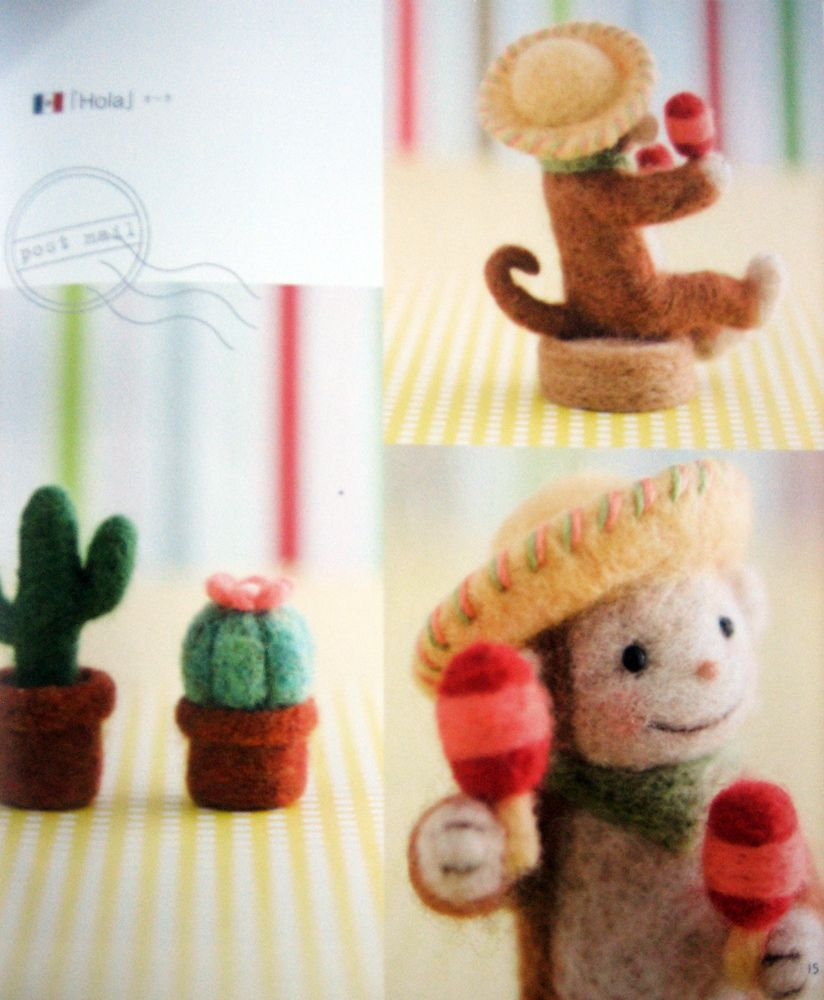 9784529048460 small world trip-encircled by felted wool--japanese craft book | by feltcafe