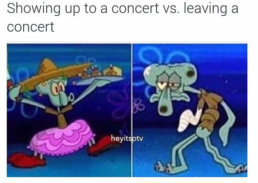 Arriving at a concert vs leaving | Funny school memes, Funny meme pictures, Crazy funny memes