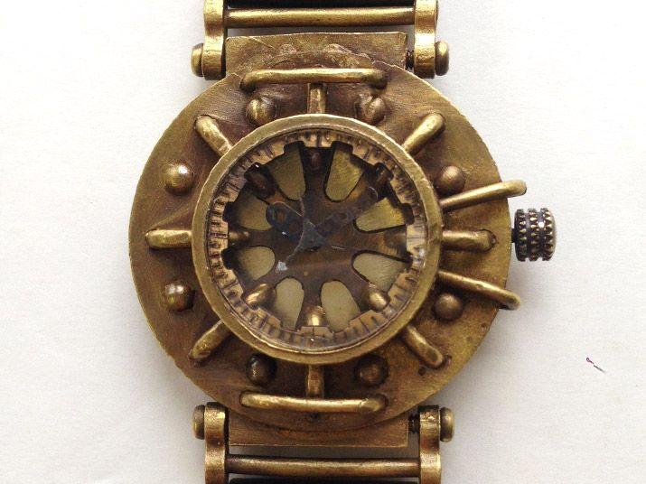 211a3088af 手作り腕時計 無骨なブレスレットのような腕時計: 廃墟・SF・スチーム ...