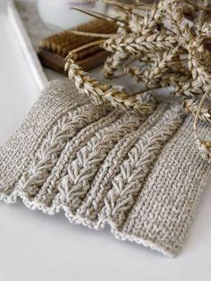 DIY | Torchons à motif blé avec instructions – mxliving   – Strickmuster