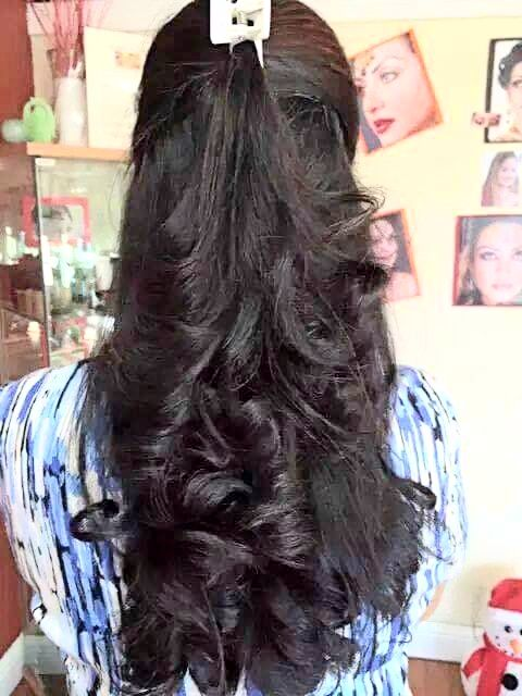 Claw Clip Hairstyle For Oily Hair Hair Styles Long Indian Hair Braids For Long Hair