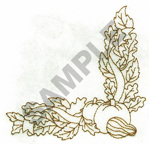FALL BORDER embroidery design