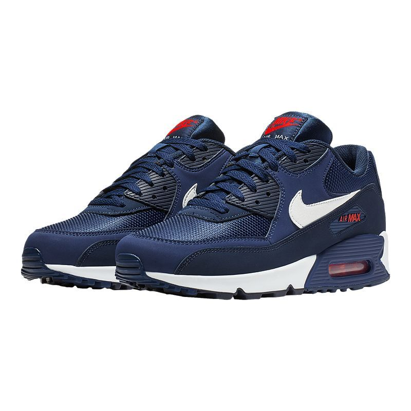 Nike Men's Air Max 90 Essential Shoes Midnight NavyWhite