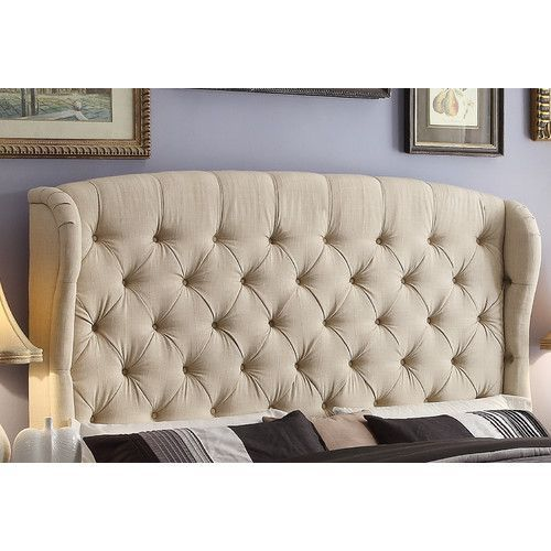 halsey upholstered wingback headboard tufted headboards
