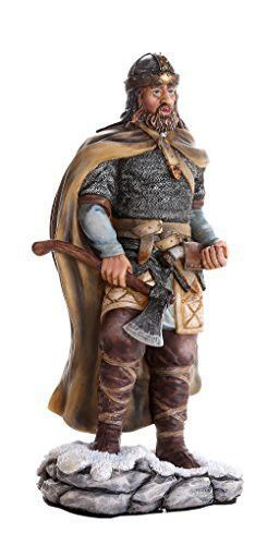Ancient Nordic Viking Warrior Berserker with Ax Collectible Figurine 8 Inch Tall